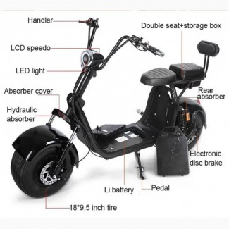 Продается Citycoco 2000w электрический самокат Big Wheel